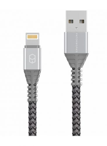 Patchworks PW-090294 Lightning To USB Data Cable 1.5m Silver