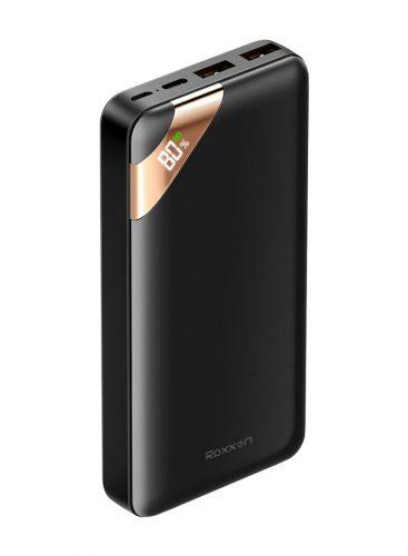 بطارية روكسون المتنقلة RP-7330 مزودة بشاشة عرض بسعة 20000 مللي امبير اسود