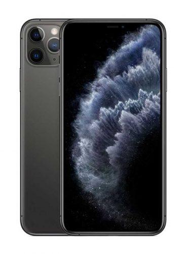 ابل ايفون 11 برو ماكس شريحتين مزود بفيس تايم 512 جيغابايت 4G LTE رمادي