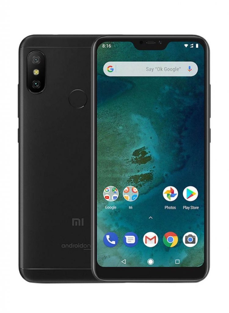 شاومي هاتف مي A2 لايت، ثنائي الشريحة بلون أسود وبذاكرة داخلية سعة 32 جيجابايت وذاكرة رام سعة 3 جيجابايت ويدعم تقنية 4G LTE
