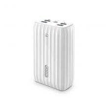 زيندور  بطارية متنقلة X6 يدعم الشحن السريع PD و QC مع موزع USB 20100 مللي أمبير / ساعة White