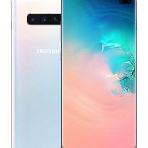 سامسونج هاتف جالاكسي S10  ثنائي الشريحة لون بريزم وايت بذاكرة رام سعة 8 جيجابايت وذاكرة داخلية سعة 128 جيجابايت يدعم تقنية 4G LTE