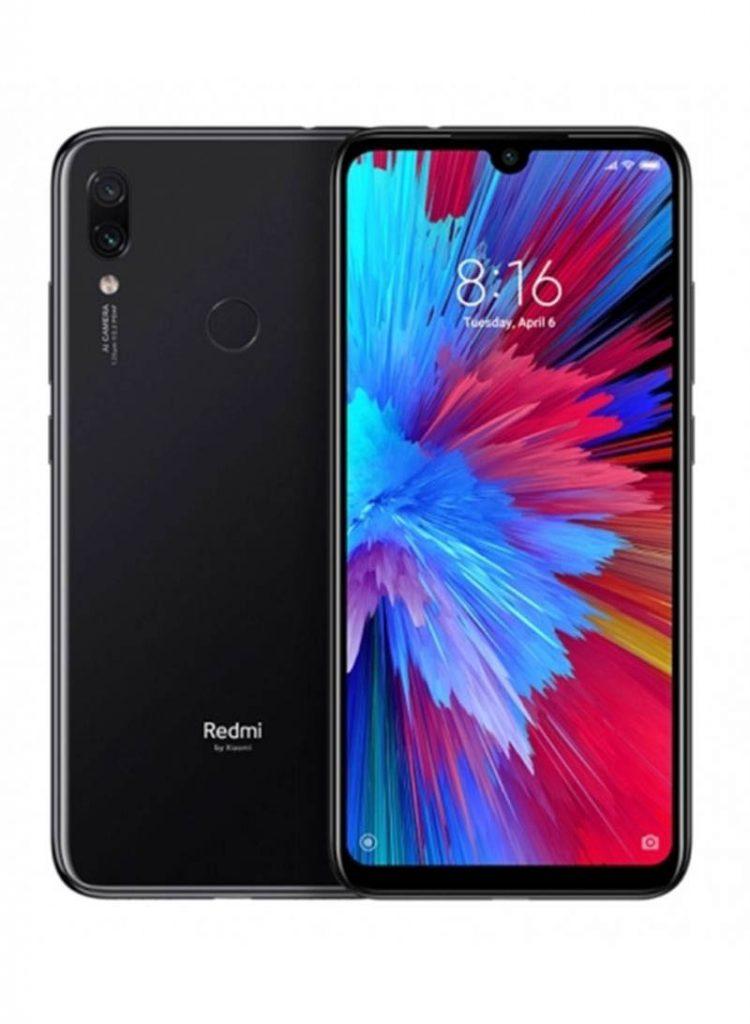 شاومي هاتف ريدمي نوت 7 ثنائي الشريحة لون أسود  بذاكرة رام سعة 3 جيجابايت وذاكرة داخلية سعة 64 جيجابايت ويدعم تقنية 4G LTE
