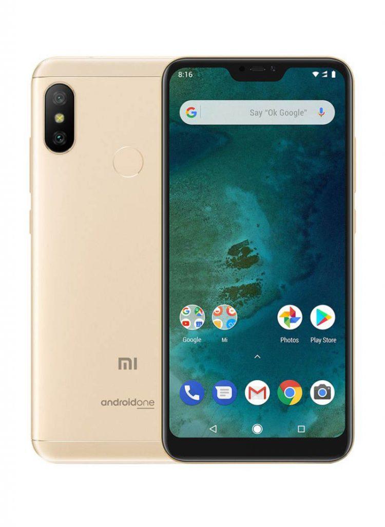 شاومي هاتف مي A2 لايت، ثنائي الشريحة بلون ذهبي بذاكرة داخلية سعة 32 جيجابايت وذاكرة رام سعة 3 جيجابايت ويدعم تقنية LTE