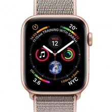 أبل Watch Series 4-40 mm GPS هيكل ألمنيوم ذهبي برباط رياضي وردي