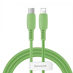 بيسوس كيبل Colourful Cable  تايب سي  للايفون  18 وات 1.2 متر  اخضر