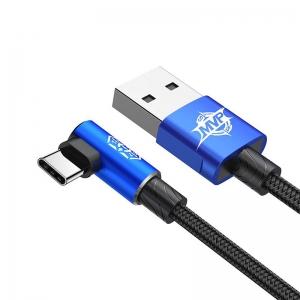 بيسوس كيبل MVP Elbow Type  USB  تايب سي  1.5A 2M  ازرق