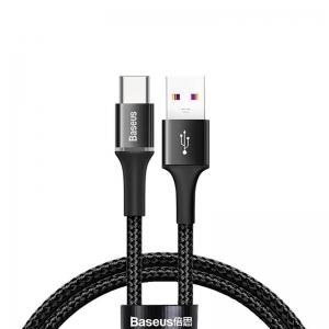 بيسوس كيبل halo data cable USB  تايب سي  2 امبير 2M اسود