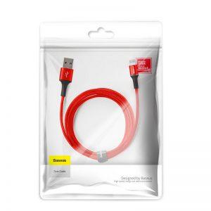 بيسوس كيبل halo data cable USB  مايكرو  2 امبير 3m احمر
