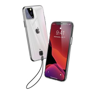 بسوس غطاء جوال  شفاف Key Phone   ايفون 11 برو 5.8 انش(2019)شفاف اسود