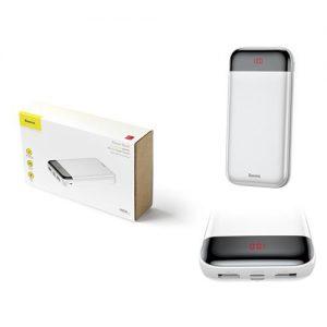 بيسوس Mini Cu بطارية متنقلة مع شاشة رقمية 20000 ملي امبير ابيض