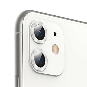 بيسوس حماية عدسة الكاميرا للايفون 11 6.1 انش فضي