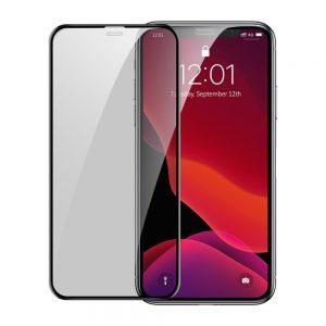 بيسوس فيلم حراري لحماية الشاشة  كامل الشاشة مع  انحناء الشاشة يدعم الخصوصية  (حماية من الغبار) مجموعتين مع اداة تركيب  ايفون  11 بروماكس واكس اس ماكس 6.5 انش(2019)