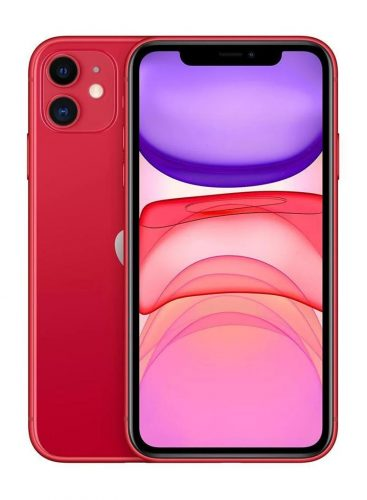 ابل ايفون 11 بخاصية فيس تايم 64 جيغابايت 4G LTE احمر