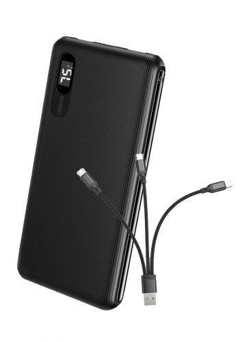 Power Bank Roxxon 10000mAh With Digital Display Black + free cable