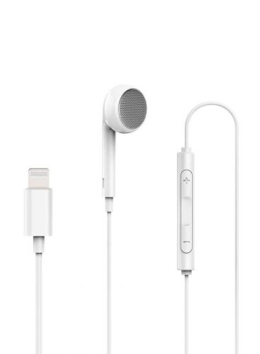 Powerology Single Mono Earphone With MFi Lightning Connector White