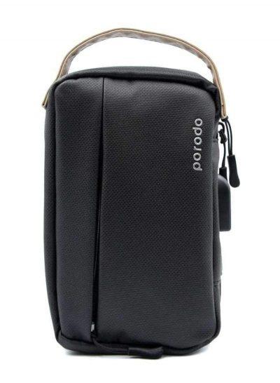 بورودو حقيبة تخزين جلدية مريحة مقاس 8.2 بوصة اسود