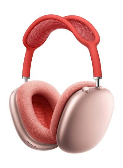 Apple AirPods Max Pink with Red Headband
