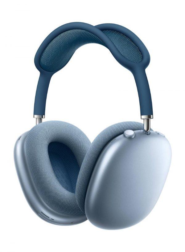 ابل ايربود ماكس سماعات لاسلكية بخاصية عزل الضوضاء ازرق سماويية عزل الضوضاء ازرق سحابي