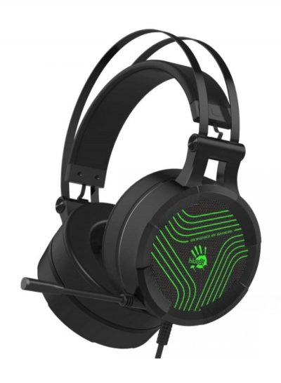 Bloody G530S Gaming Headset with Single Green Lightning Black