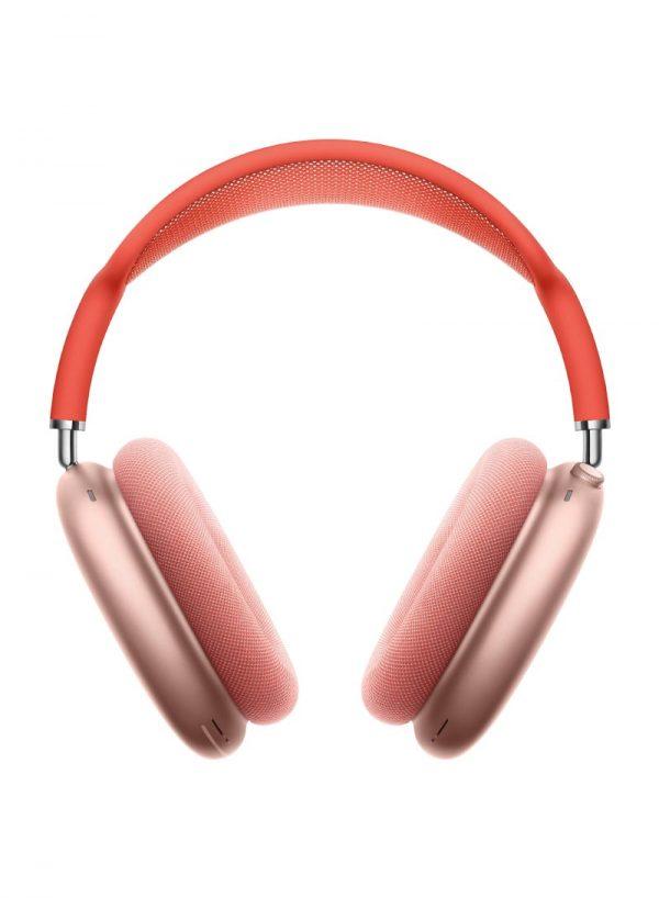 ابل ايربود ماكس سماعات لاسلكية بخاصية عزل الضوضاء زهري