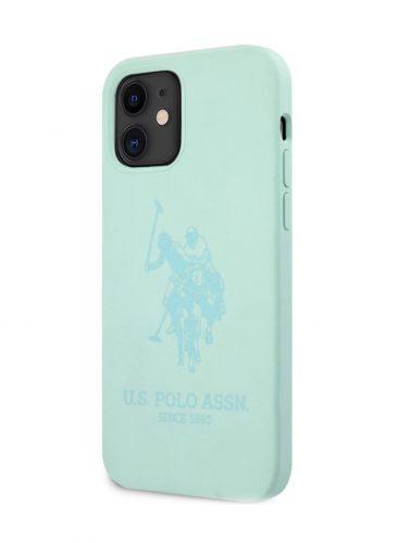 U.S. Polo Liquid Sillicone Hard Case HD Logo For iPhone 12 mini Mint