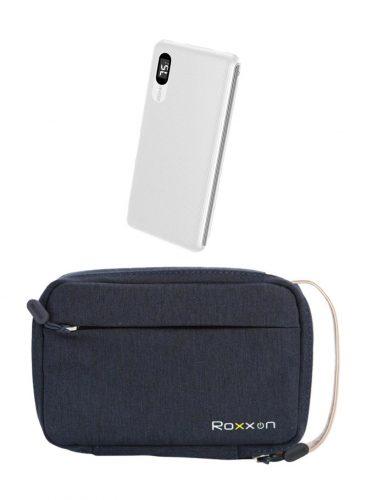 حقيبة روكسون ازرق + روكسون باور بنك 10000 مللي امبير ابيض