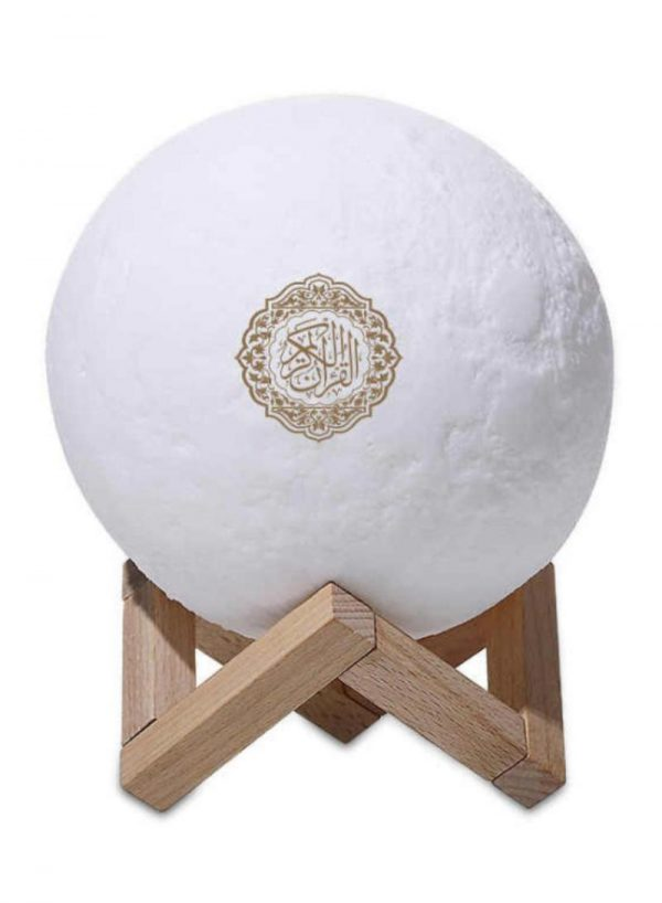 Moon Lamp Quran Speaker With Remote White