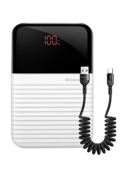 Power Bank Roxxon 10000mAh With Digital Display White